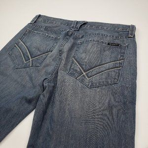 William Rast Straight Leg Button Fly Jeans size 32